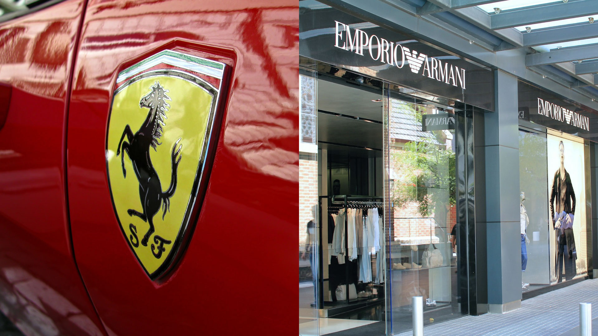 Ferrari and Armani together in the fashion